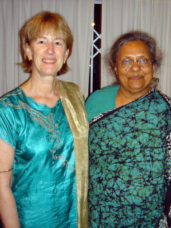 Yogacharya O'Brian with Ela Gandhi