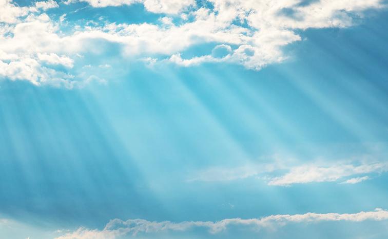 sun rays cloud