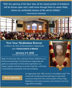 New Year Meditation Retreat