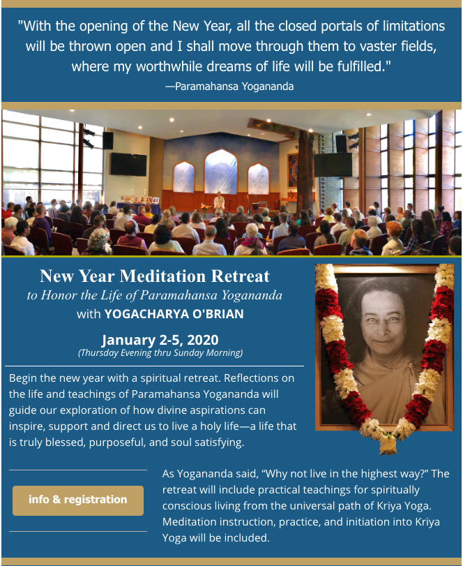 New Year Meditation Retreat