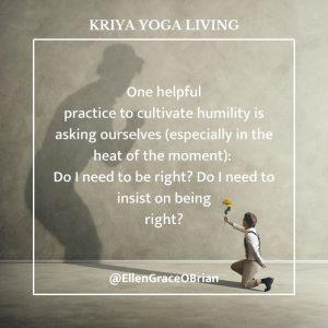 kriya yoga living humility