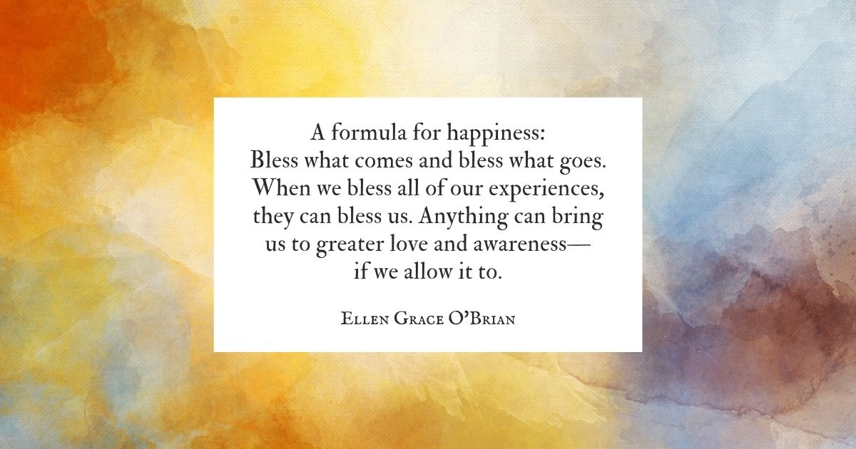 Formula for Happiness quote