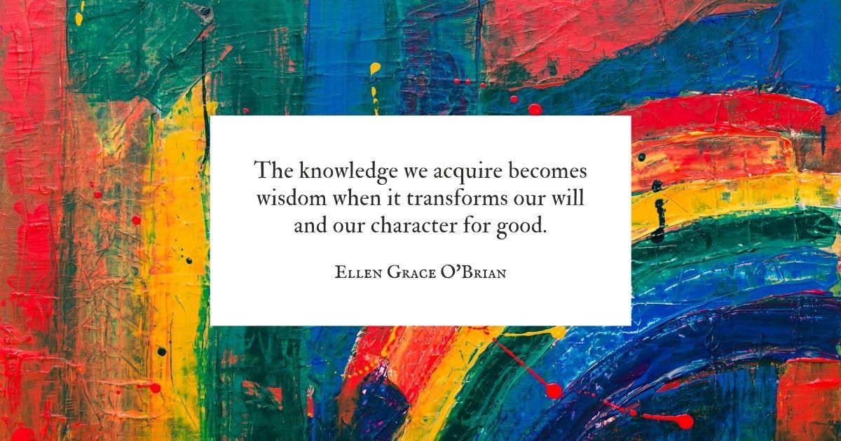 knowledge to wisdom