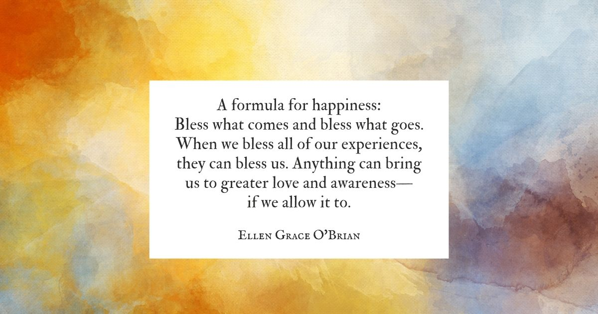A formula for happiness