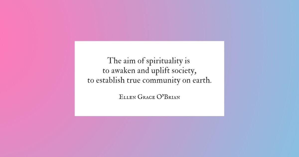 Aim of Spirituality quote