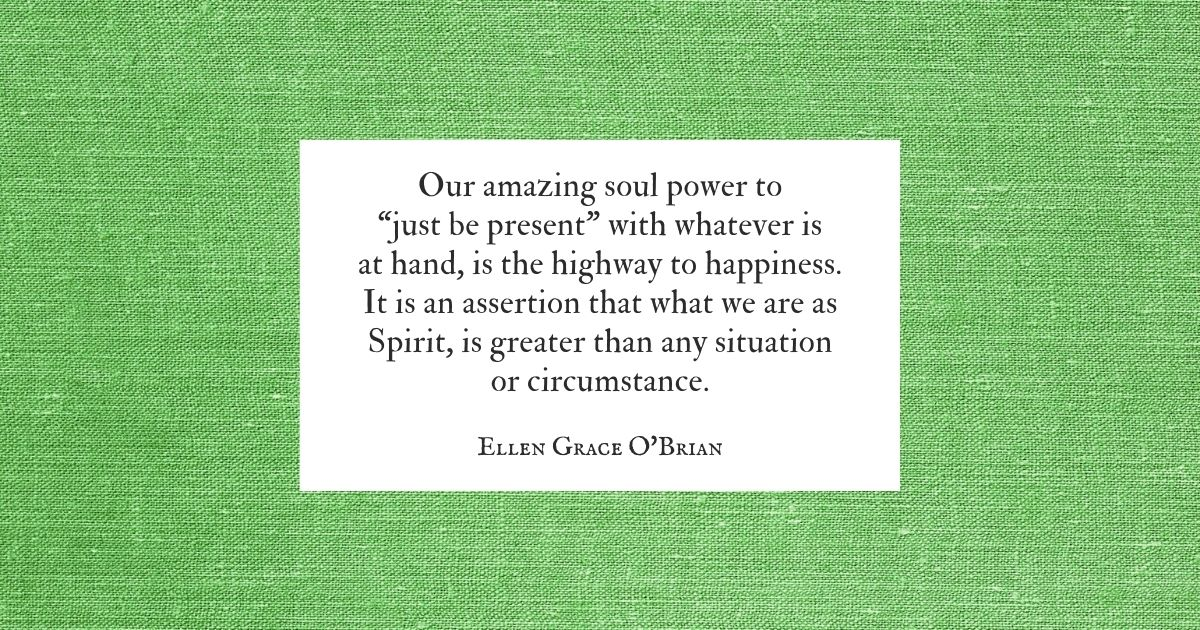 Just Be Present quote