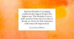 Spiritual Discipline quote