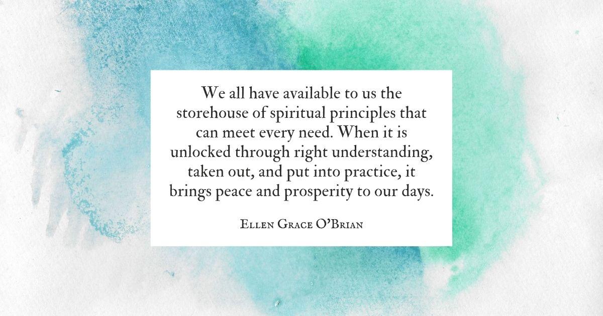 Storehouse of Spiritual Principles quote