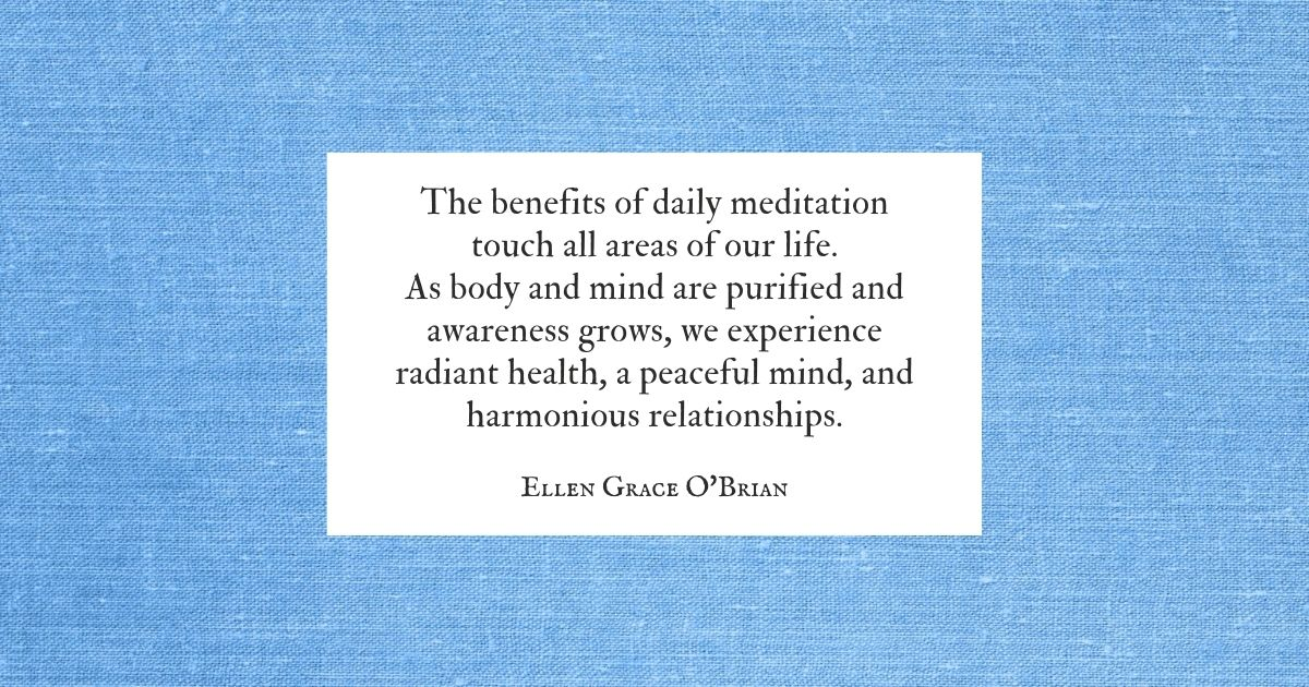 The Benefits of Daily Meditation quote